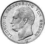 Taler Kronentaler Ludwig II. 1833-1837  vorzüglich