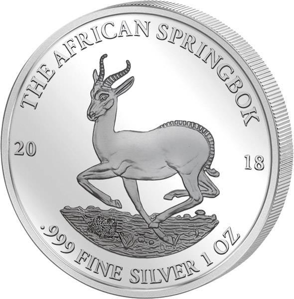 1 Unze Silber Gabun Springbock 2018