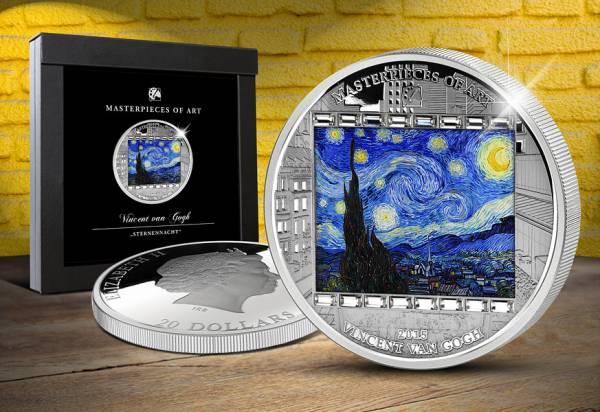 20 Dollars Cook-Inseln Vincent van Gogh - Sternennacht 2015 Polierte Platte