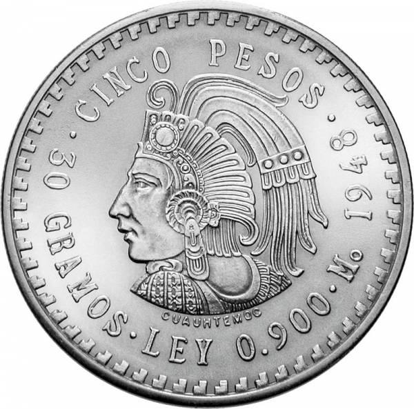 5 Pesos Mexiko Cuauhtemoc 1947-1948