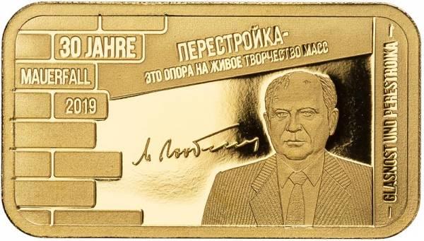Goldbarren Glasnot & Perestroika 2019