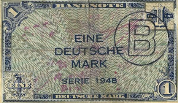 1 DM BRD Banknote Kopfgeld 1948
