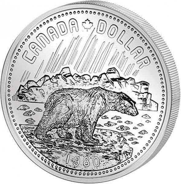 1 Dollar Kanada Eisbär 1980