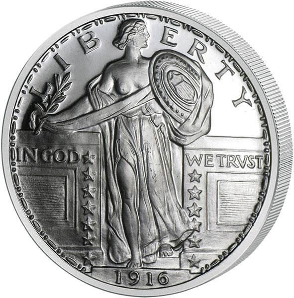 1 Unze Silber Gedenkprägung Standing Liberty
