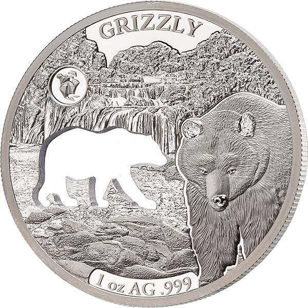 1 Unze Silber Barbados Grizzly 2020