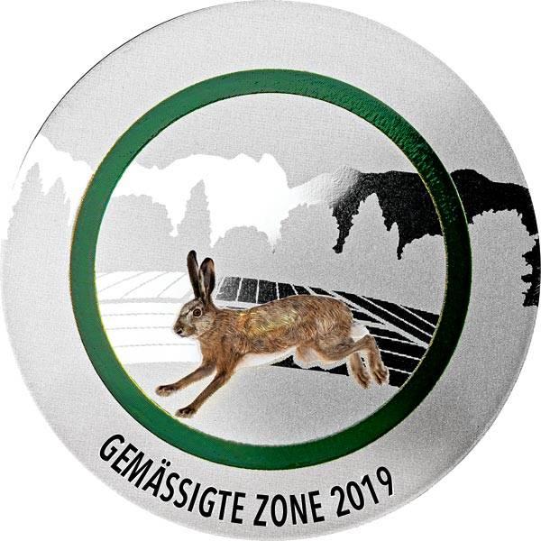 Gedenkprägung Gemäßigte Zone 2019