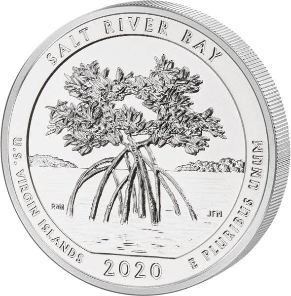 Quarter Dollar 25 Cents USA Jungferninseln Salt River Bay National Historical Park 2020