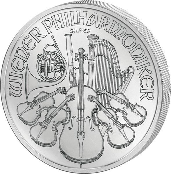 1 Unze Silber Österreich Philharmoniker 2018