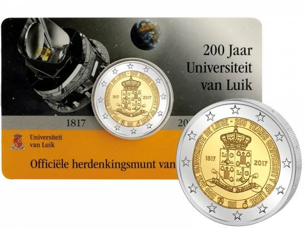 2 Euro Belgien 200 Jahre Universität Lüttich 2017