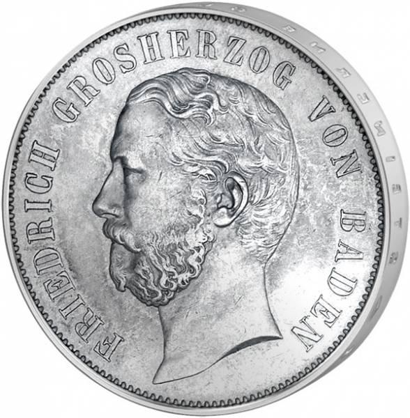 1 Gulden Baden 2. Badisches Landesschiessen 1867 Vorzüglich