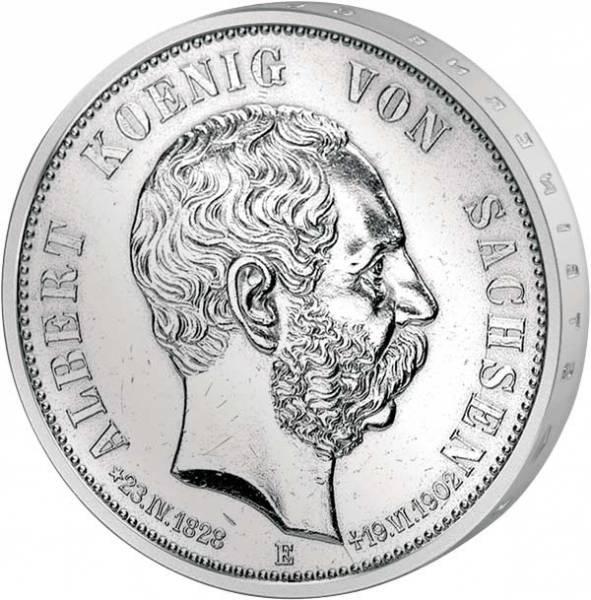 5 Mark Sachsen Auf den Tod Alberts 1902 Vorzüglich