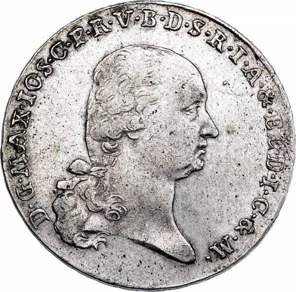 Konventionstaler Bayern Kurfürst Maximilian Joseph 1799-1802