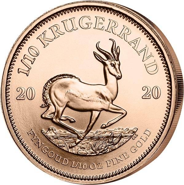 1/10 Unze Gold Südafrika Krügerrand 2020