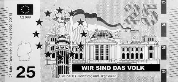Silbernote Reichstag und Siegessäule