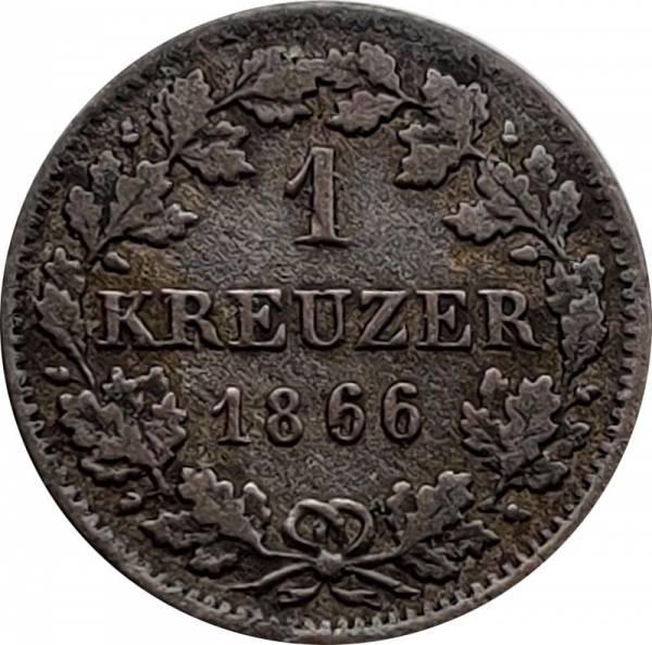 1 Kreuzer Bayern 1839-1871
