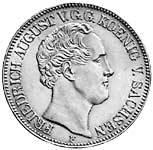 Taler Friedrich August II. 1839-1844 Sehr schön