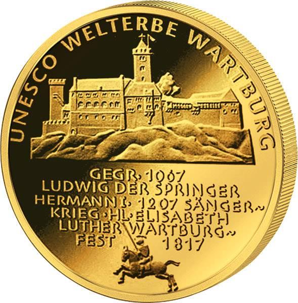 100 Euro BRD UNESCO-Weltkulturerbe Wartburg 2011