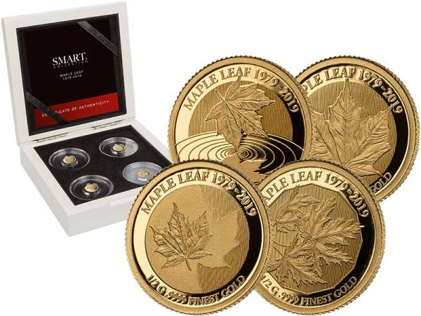 4 x 10 Dollars Salomonen Smart Collection Maple Leaf 2019