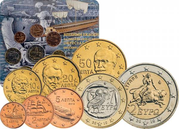 Euro-Kursmünzensatz Griechenland 2010