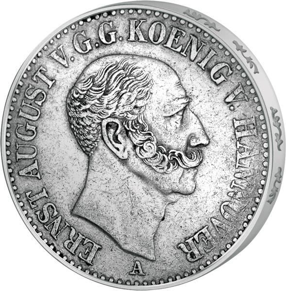 Taler Th. 164 Hannover  Ernst-August I. 1842-1847  Sehr schön