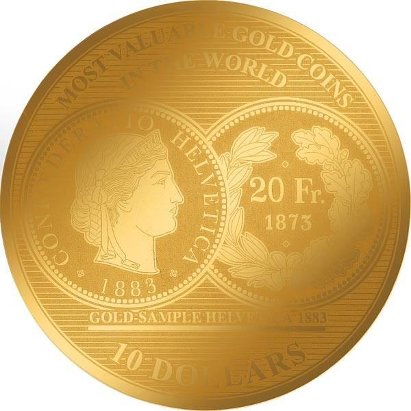 1/100 Unze Gold Salomonen Schweiz Helveti 2018