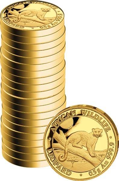 20 x 20 Shillings Somalia Leopard 2021