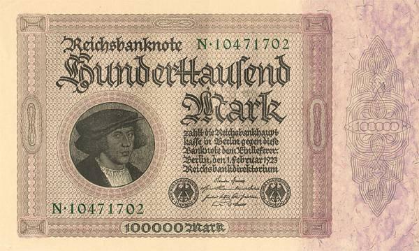 100.000 Mark Kaufmannsschein