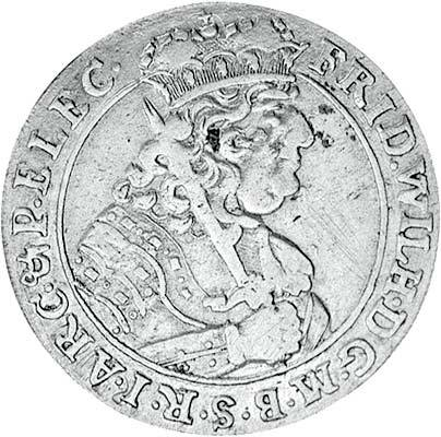 18 Gröscher Brandenburg Preußen Kurfürst Friedrich Wilhelm 1679-1685 Sehr schön