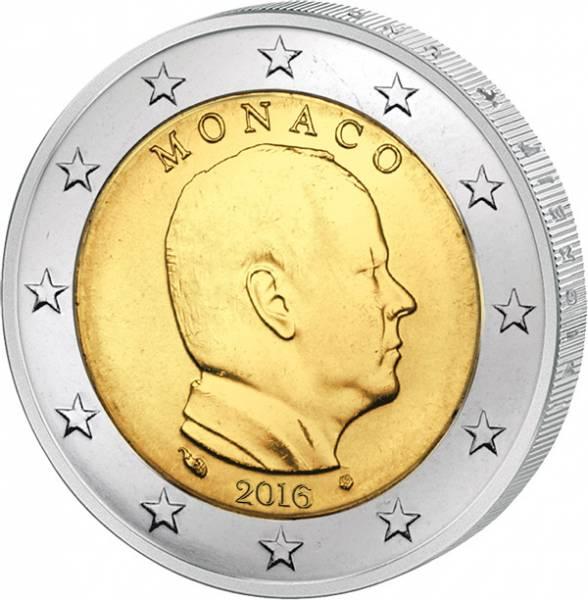 2 Euro Monaco Albert II. JuW