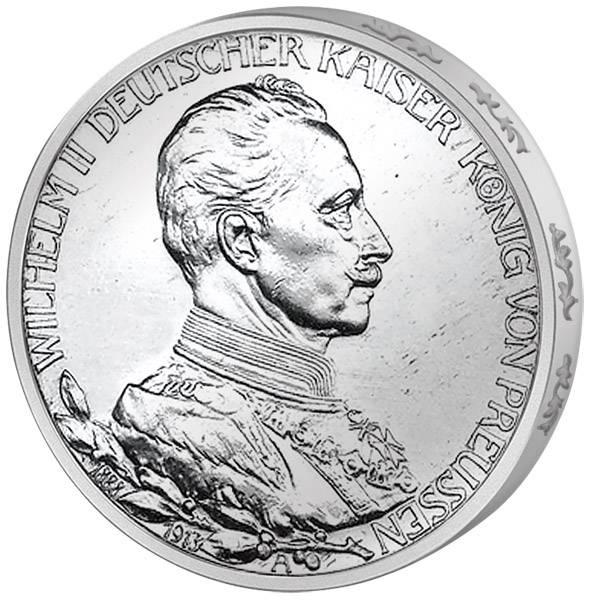 3 Mark Preußen Regierungsjubiläum 1913 Vorzüglich
