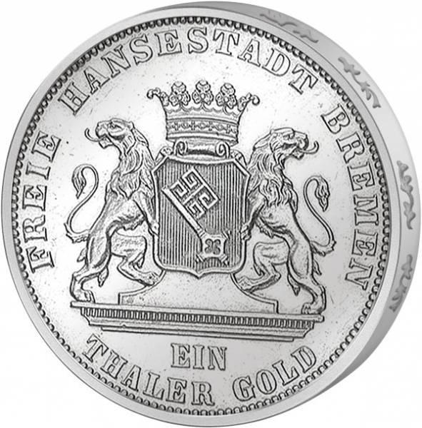 Taler  Bundesschießen 1865  vorzüglich