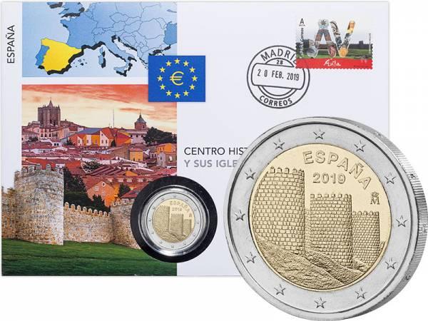 2 Euro Numisbrief Spanien UNESCO-Welterbe Altstadt von Avila 2019