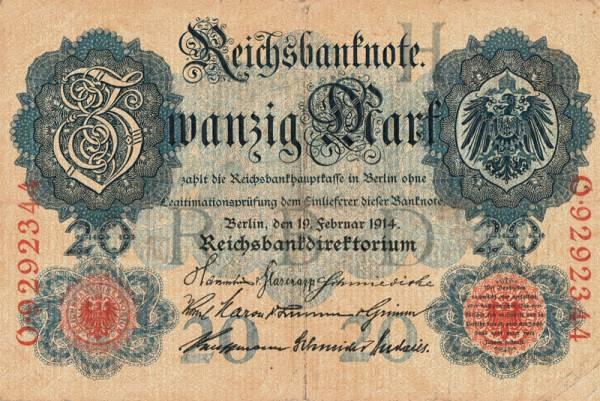 20 Mark Deutschland div. Jahre Deutschland