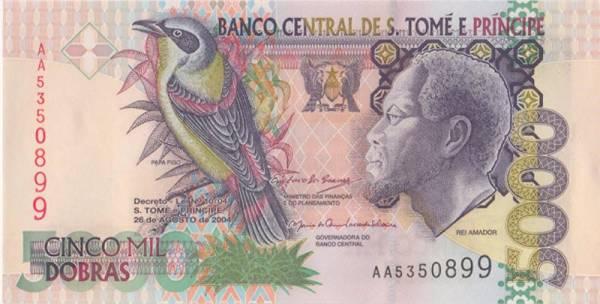 5.000 Dobras Banknote Sao Tome und Principe 1996