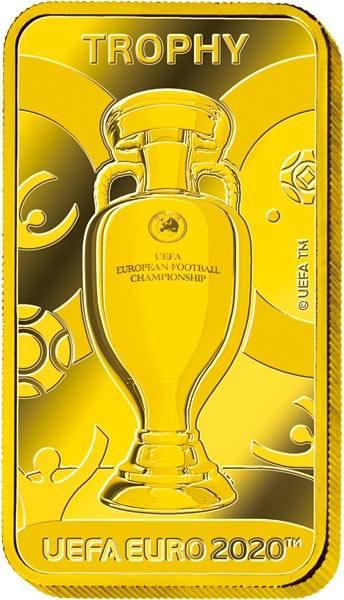 5 Pounds Gibraltar UEFA Fußball-EM Trophäe 2020