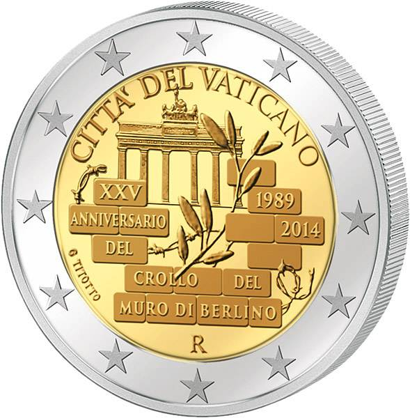 2 Euro Vatikan 25 Jahre Mauerfall 2014