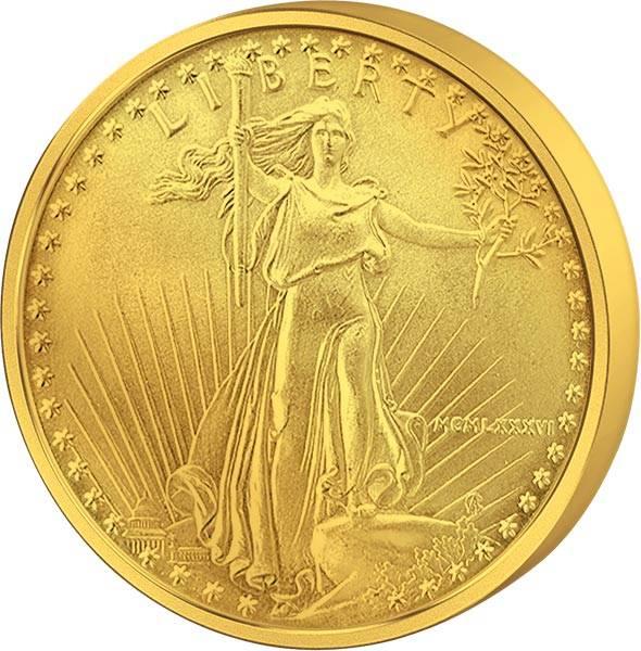 1 Unze Gold USA Eagle und Liberty JuW
