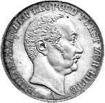 Taler Doppeltaler Paul Alexander Leopold 1843 Vorzüglich