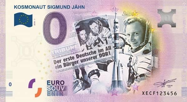 0-Euro-Banknote Kosmonaut Sigmund Jähn 2018