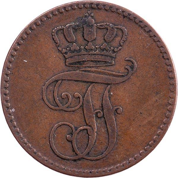 3 Pfennige Großherzog Freidrich Franz II 1843 - 1848