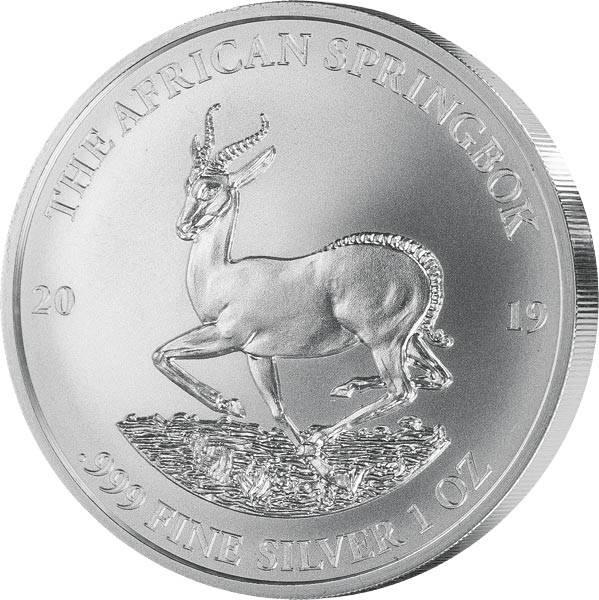 1 Unze Silber Gabun Springbock 2019