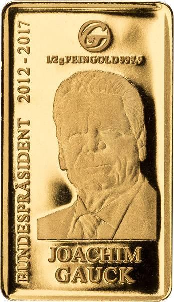 Goldbarren Joachim Gauck