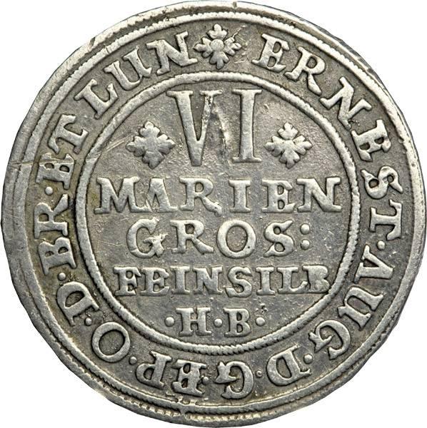 6 Mariengroschen Braunschweig Calenberg Hannover Ross 1688-1692