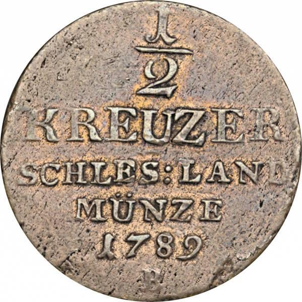 1/2 Kreuzer Brandenburg-Preußen Schlesische Landmünze II. 1788-1797
