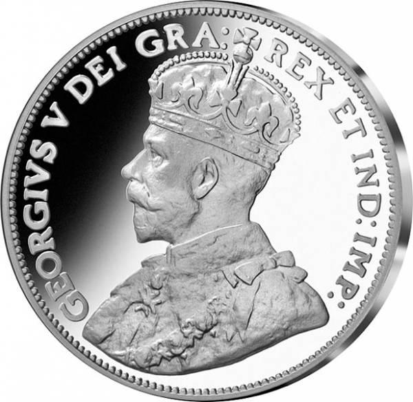 1 Dollar Kanada Dei Gratia Dollar von 1911 Original-Replik