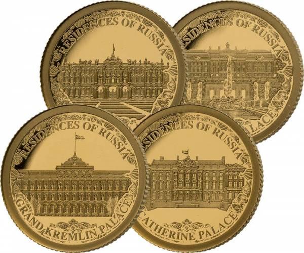 4 x 10 Dollars Salomonen Royal Residences Paläste Russlands 2021