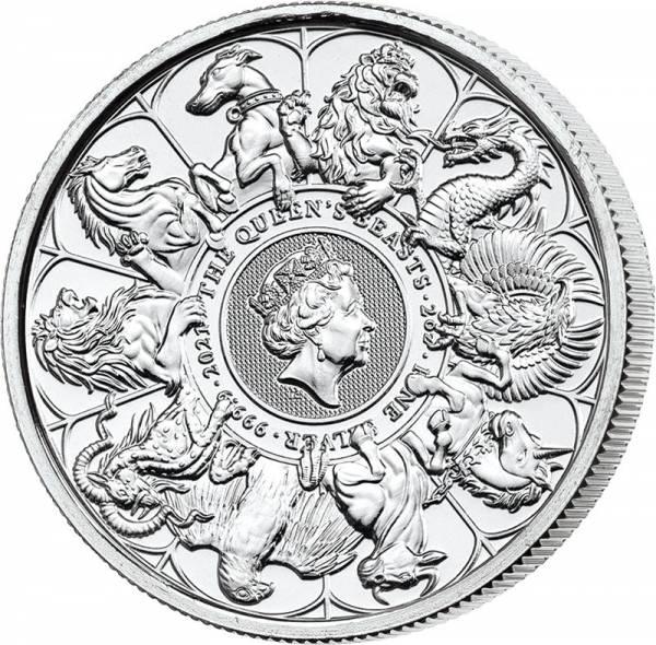 2 Unzen Silber Großbritannien Queens Beasts Completer Coin 2021
