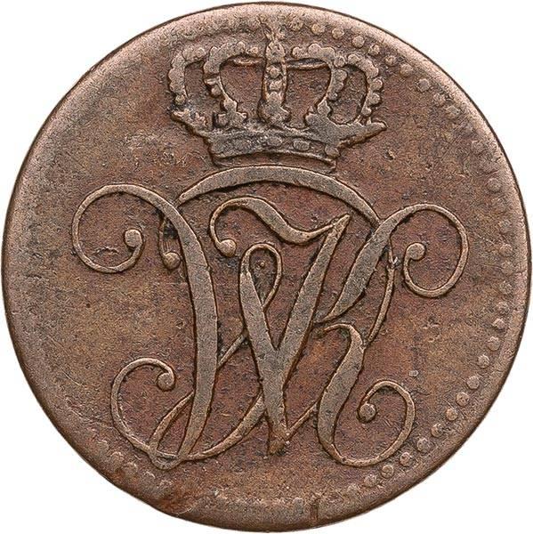 1 Heller Hessen-Kassel Kurfürst Wilhelm II. 1822-1831