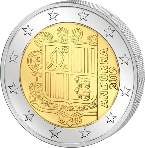 2 Euro Andorra Kursmünze 2019