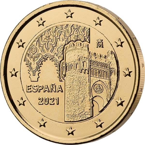 2 Euro Spanien UNESCO Altstadt von Toledo vollvergoldet